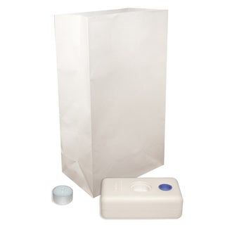White Luminaria Candle Kit (Set of 12)