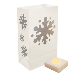 Battery Operated LumaLite Luminaria Kit Snowflake (6 Count)