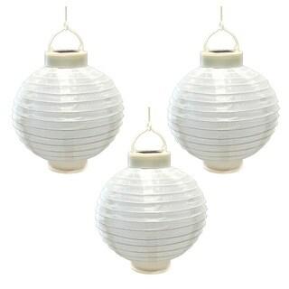 Solar Nylon 8-inch Lanterns (3 Count)