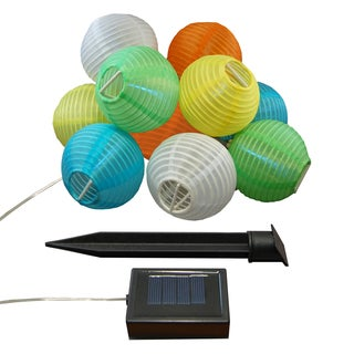Solar Powered Nylon String Multi-colored Lights (Set of 10)