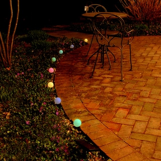 Solar 8-light Multi-color Plastic String Lights