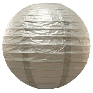 Paper Metallic Silver 10-inch Lanterns (5 Count)