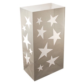 Luminaria Bags Silver Stars (24 Count)