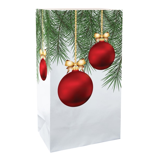 luminaria bags christmas ornament set of 24
