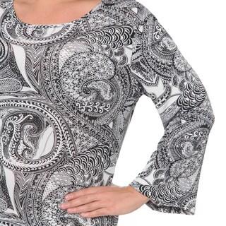 White Mark Women's Plus Printed Dress