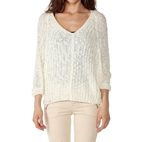 Dinamit Women's Cotton V-Neck Knit Pullover