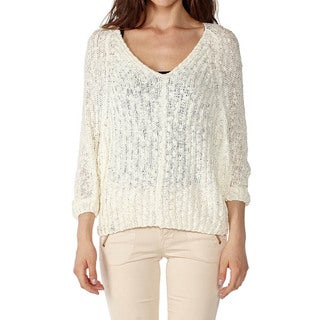 Dinamit Women's Cotton V-Neck Knit Pullover
