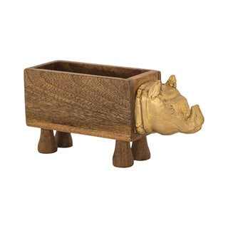 Dimond Home German Silver Rhino Box