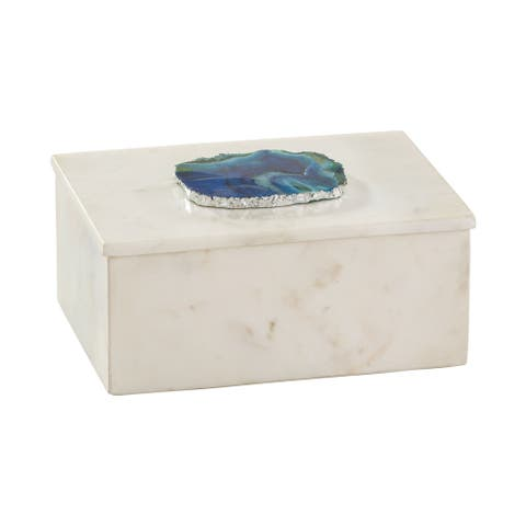 Dimond Home Marble and Blue Agate Box