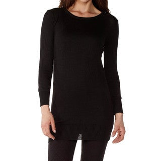 Dinamit Juniors Cotton Ribbed Crew Neck Tunic Sweater