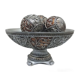D'Lusso Designs Sofia Collection 4-piece Bowl with 3-piece Orbs Set