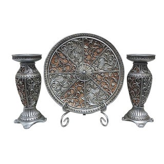 D'Lusso Designs Sofia Collection 4-piece Charger, Stand and 2-piece Candlestick Set