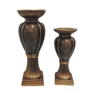 D'Lusso Designs Isadora Collection Vase Duet Set