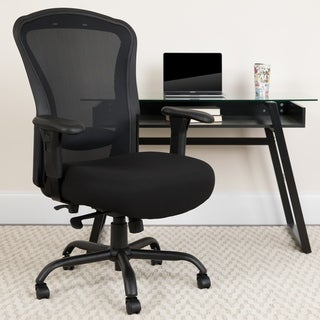 24/7 Intensive Use Big & Tall 400 lb. Rated Black Mesh Multifunction Chair