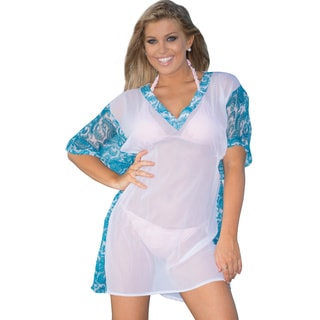 La Leela Super LIHGTWEIGHT Sheer Chiffon Paisley Beachwear Bikini Cover up White will easily complement any look.