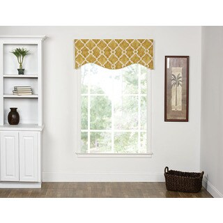 Athens Goldenrod Shaped Valance