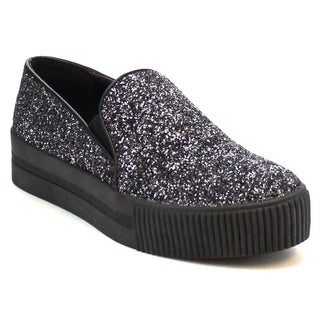 MI.IM KARRI-03 Women's Glittery Slip On Fashion Sneaker Casual Shoes