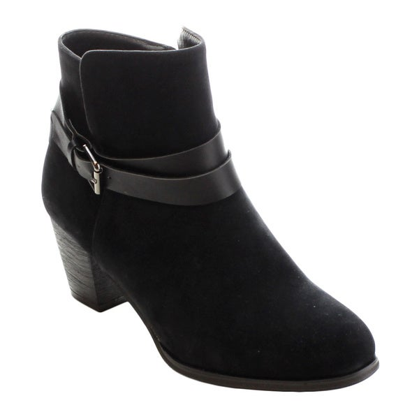 MI.IM TIFF-01 Women's Comfort Buckle Strap Side Zipper Chunky Ankle Booties