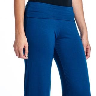 Popana Women's Super Soft Solid Palazzo Pants