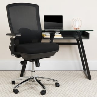 24/7 Intensive Use Big & Tall 350 lb. Rated Black Mesh Multifunction Chair