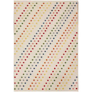 Pura Flat-weave Ivory Wool Rug (8' x 10')