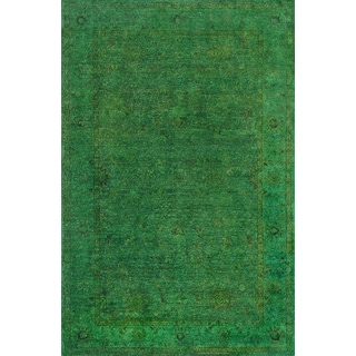 Overdyed Forest Green Wool Rug (6' x 9')