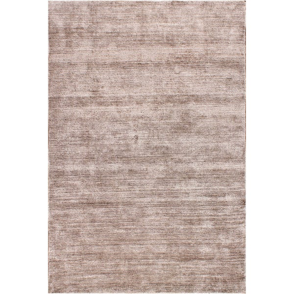 Hand-woven Textured Taupe Rayon from Bamboo Silk Area Rug (8' x 10')