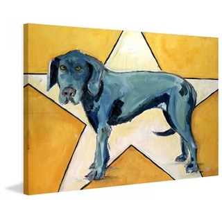 "Marmont Hill - ""Star Dog"" by Tori Campisi Painting Print on Canvas"