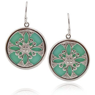 handmade Sterling Silver Round Turquoise Earrings