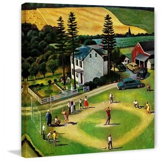 """Marmont Hill - """"Family Baseball"""" by John Falter Painting Print on Canvas"""