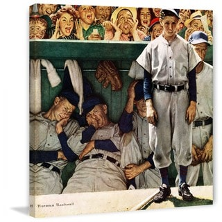 """Marmont Hill - """"Dugout"""" by Norman Rockwell Painting Print on Canvas"""