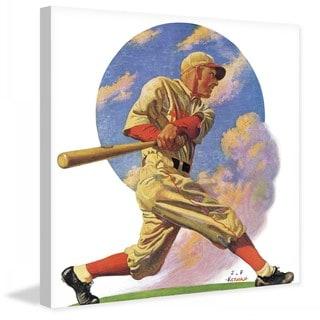 "Marmont Hill - ""Baseball Batter"" by J.F. Kernan Painting Print on Canvas"