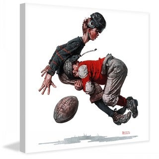 "Marmont Hill - ""Fumble or Tackled"" by Norman Rockwell Painting Print on Canvas"