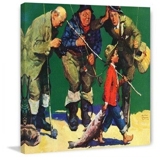 "Marmont Hill - ""Cane Pole Catch"" by WM. Meade Prince Painting Print on Canvas"