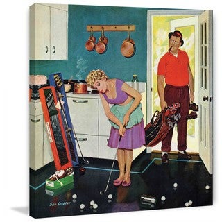 "Marmont Hill - ""Putting Around in the Kitchen"" by Richard Sargent Painting Print on Canvas - Multi-color (5 options available)"