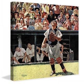 "Marmont Hill - ""Yogi Berra"" by Earl Mayan Painting Print on Canvas"