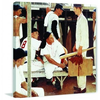 "Marmont Hill - ""The Rookie"" by Norman Rockwell Painting Print on Canvas"