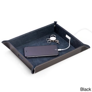 Bey Berk Leather Valet and Charging Station (2 options available)