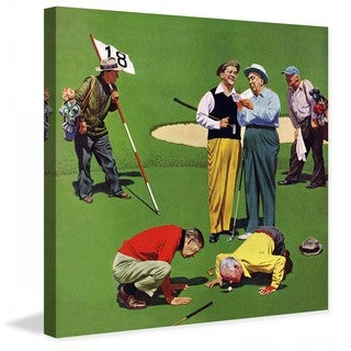 """Marmont Hill - """"Eighteenth Hole"""" by John Falter Painting Print on Canvas"""