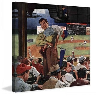 "Marmont Hill - ""Sleepy Inning"" by Earl Mayan Painting Print on Canvas"