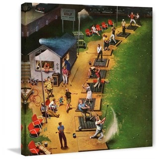 """Marmont Hill - """"Golf Driving Range"""" by John Falter Painting Print on Canvas"""