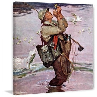 """Marmont Hill - """"The Fish are Jumping"""" by Mead Schaeffer Painting Print on Canvas"""