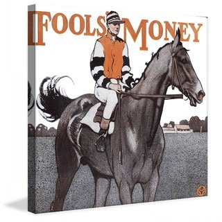 "Marmont Hill - ""Fools Money"" by Edward Penfield Painting Print on Canvas"