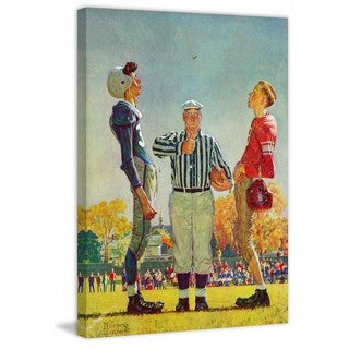 """Marmont Hill - """"Coin Toss"""" by Norman Rockwell Painting Print on Canvas"""