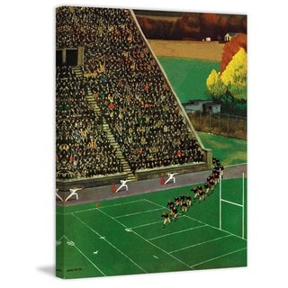 """Marmont Hill - """"Onto the Field"""" by John Falter Painting Print on Canvas"""
