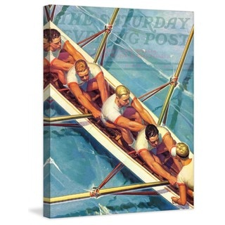 "Marmont Hill - ""Scullers"" by Michael Dolas Painting Print on Canvas"