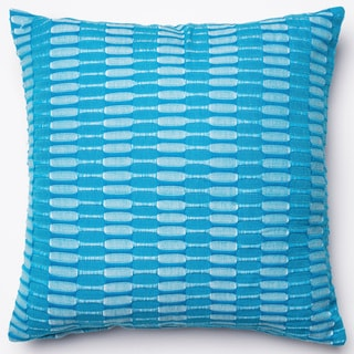 Paige Teal Down Feather or Polyester Filled 18-inch Throw Pillow or Pillow Cover