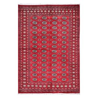 Herat Oriental Pakistani Hand-knotted Tribal Bokhara Wool Rug (5'5 x 7'4)
