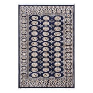 Herat Oriental Pakistani Hand-knotted Tribal Bokhara Wool Rug (4'2 x 6'3)