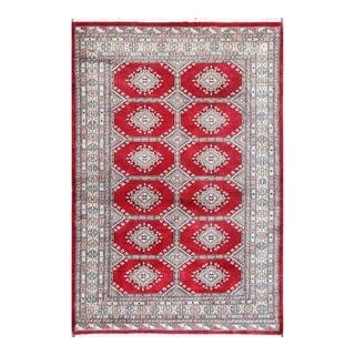 Herat Oriental Pakistani Hand-knotted Tribal Bokhara Wool Rug (4'1 x 5'11)